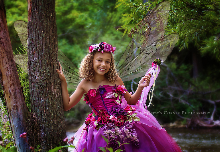 Buffalo NY Fairy Photography - Beautiful fuchsia fairy by Gypsy's Corner Photography