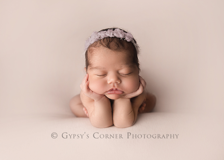 Best Buffalo Newborn Photographer | Chubby cheeks on this Baby girl