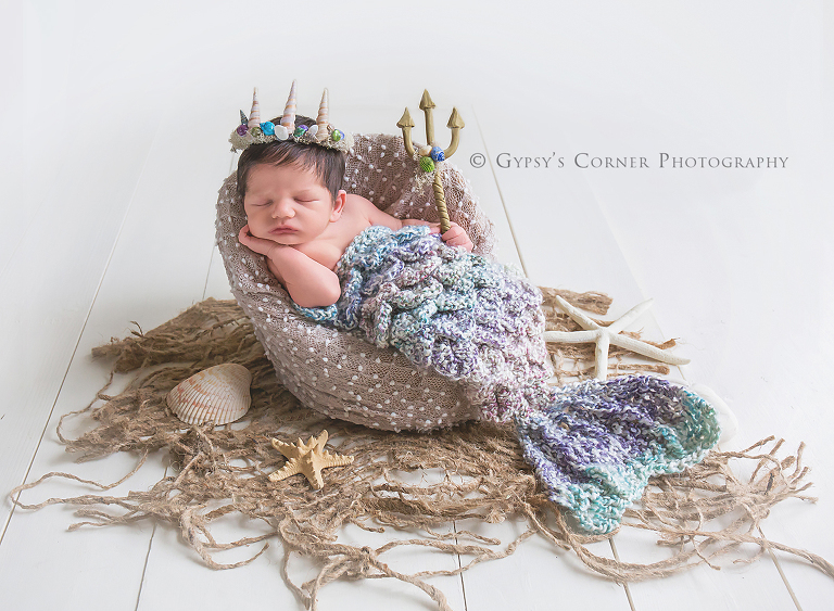Buffalo Newborn Photographer - Merman Poseidon Themed Newborn Baby by Gypsys Corner Photography in Buffalo NY (1)