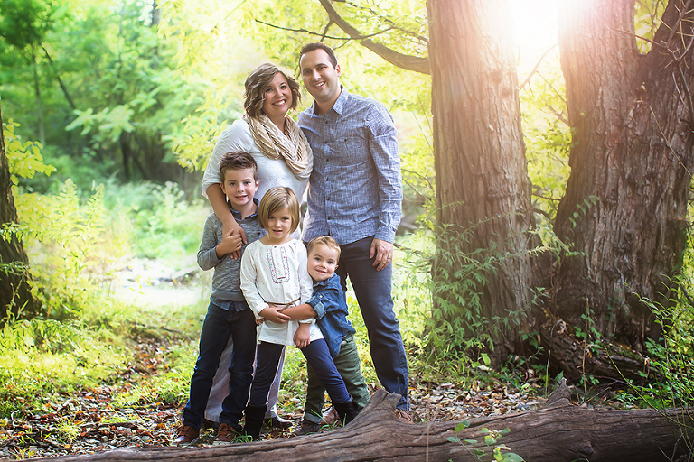 Family Photography Session|Family of five on a forest trail in the fall by Gypsy's Corneer Photography in Williamsville, NY