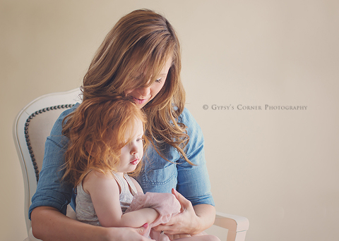 Buffalo Family Photographer - Mom with red haired girl
